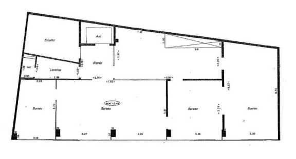 Bureaux à vendre 75015 PARIS 15 Plan1