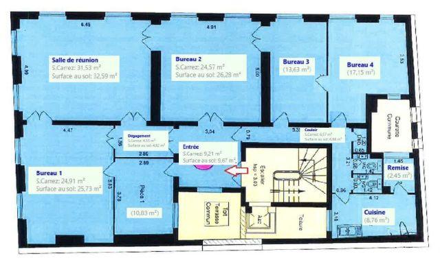 Bureaux à vendre 75008 PARIS 08 Plan1