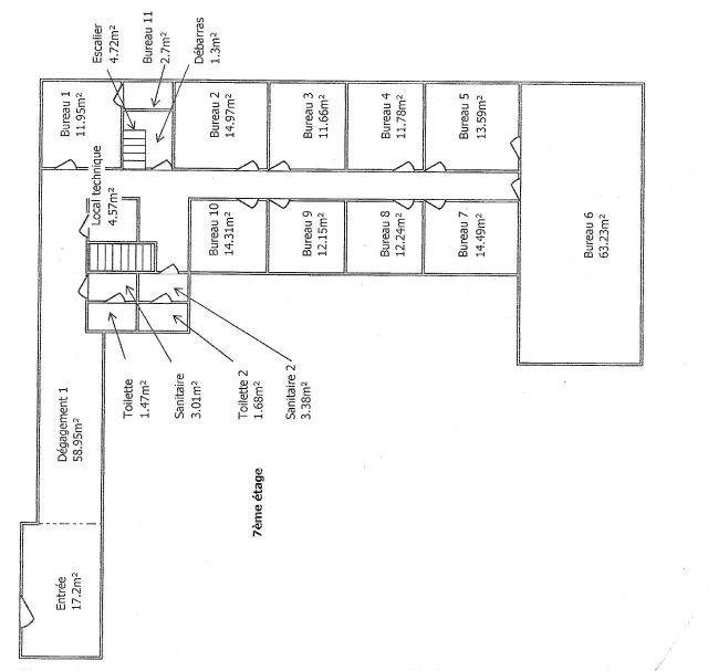 Bureaux à louer 75008 PARIS 08 Plan1