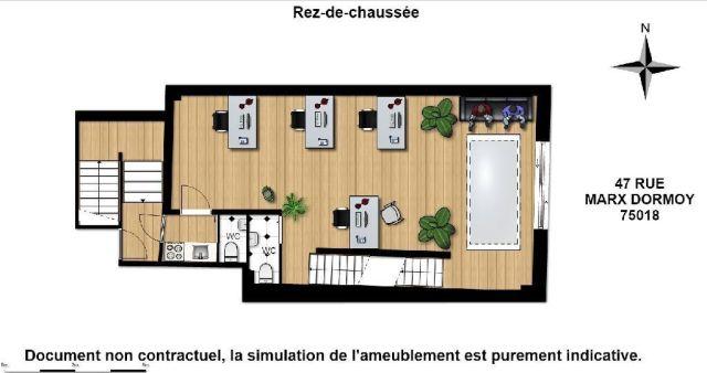 bureaux vendre paris 18 75018 107 m 5021. Black Bedroom Furniture Sets. Home Design Ideas