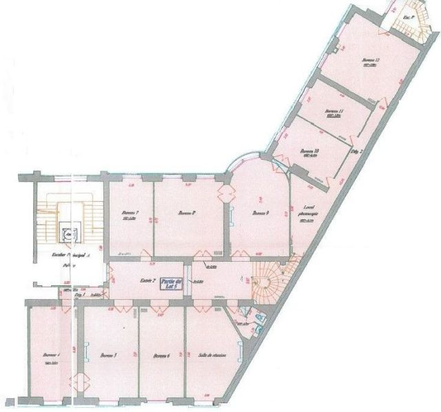 Bureaux à vendre 75017 PARIS 17 Plan4